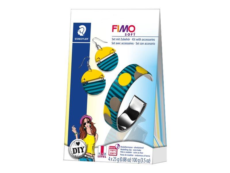 Pâte Fimo SOFT - Kit de modelage  - bijoux et cercles