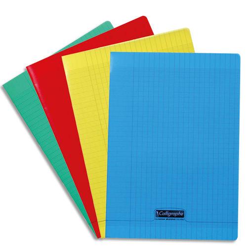 Calligraphe 8000 - Cahier polypro A4 (21x29,7 cm) - 96 pages- grands carreaux (Seyes) - disponible dans différentes couleurs