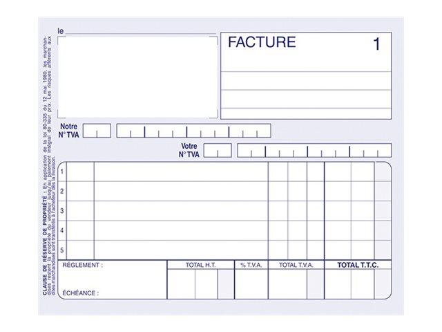 ELVE - Manifold Carnet de factures - 50 dupli - 10,5 x 14 cm