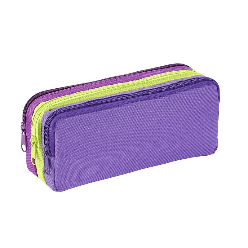 Trousse rectangulaire Ultra Violet - 3 compartiments - Viquel