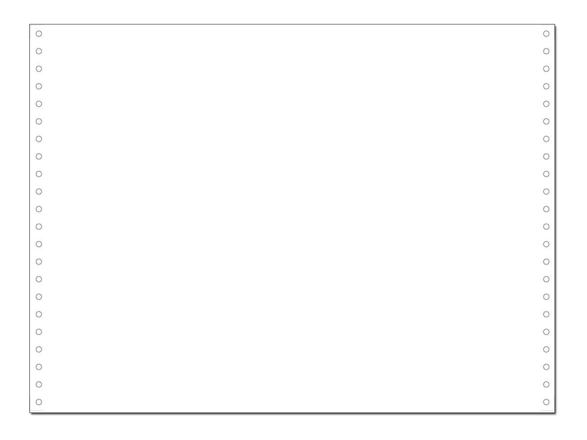 Exacompta - Papier listing blanc - 2000 feuilles 380 mm x 11