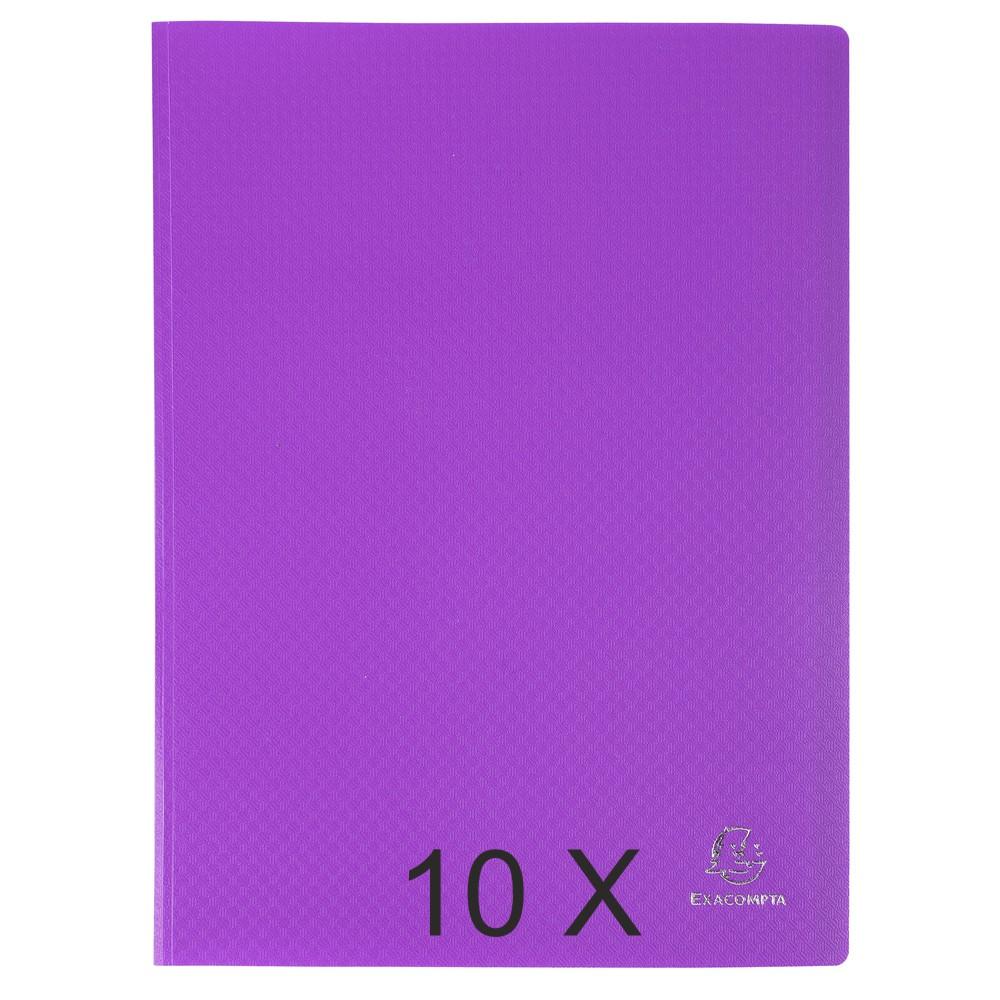 Exacompta Opak - 10 Porte vues - 100 vues - A4 - violet