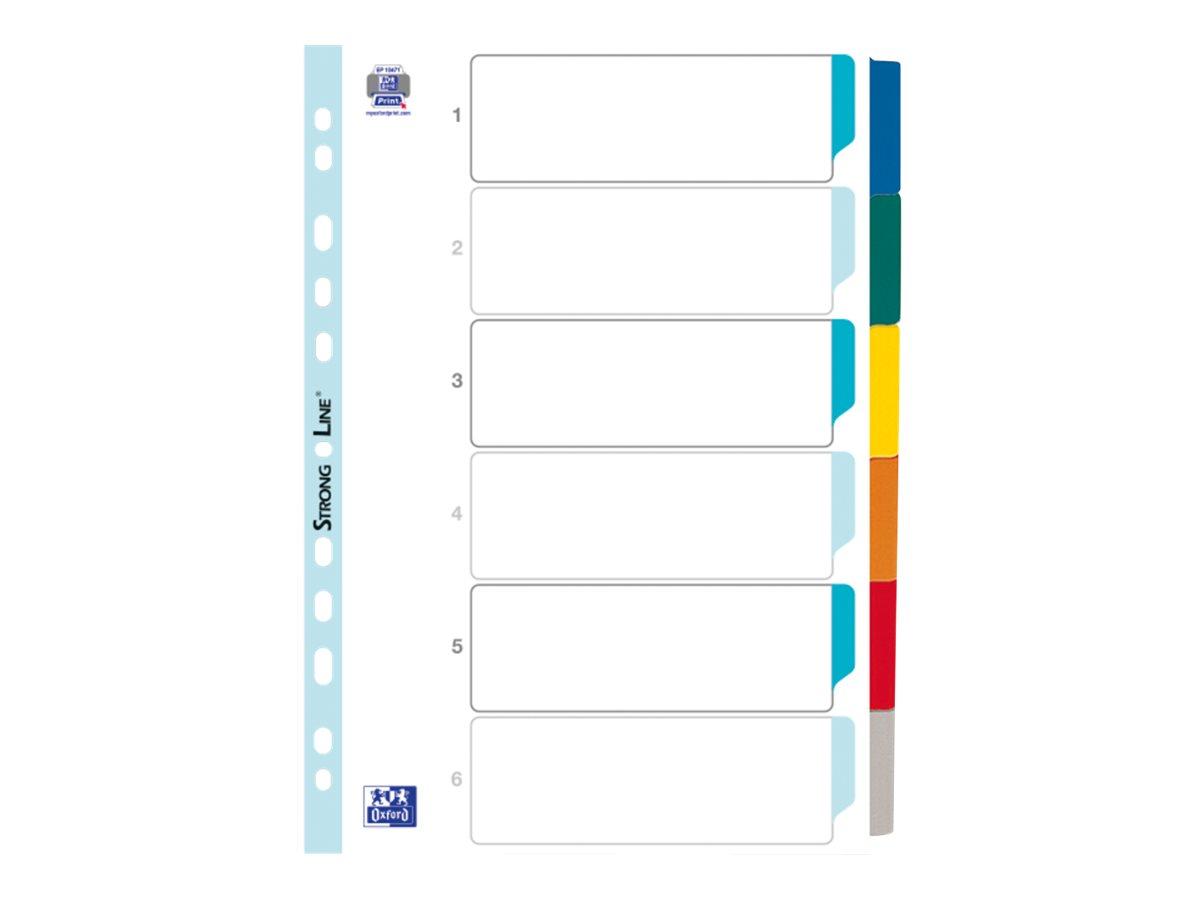 ELBA StrongLine - Intercalaire 6 positions - A4 - carte blanche