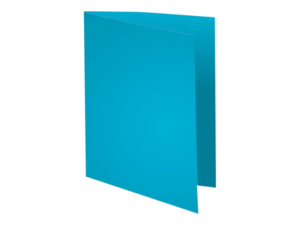 Exacompta Super 210 - 100 Chemises - 210 gr - bleu clair