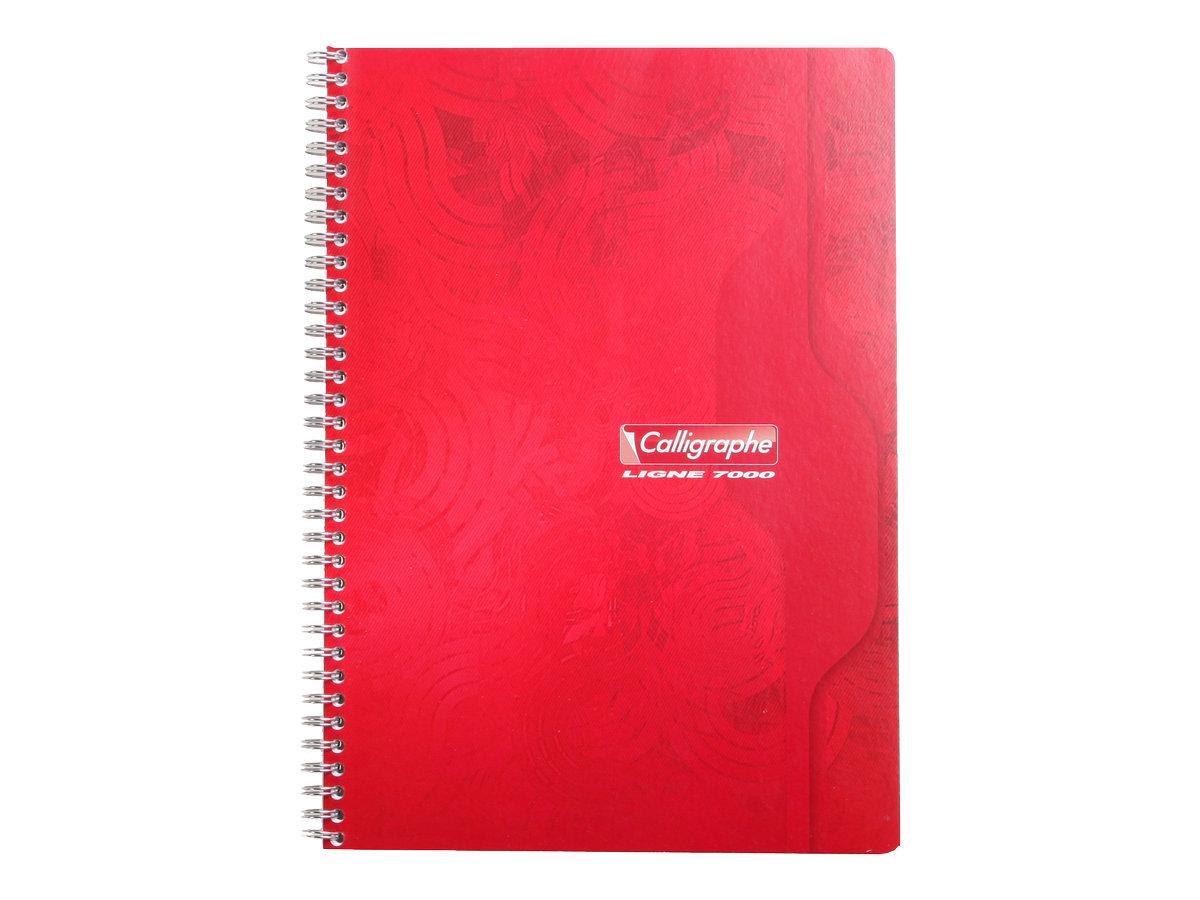 Calligraphe 7000 - Cahier à spirale A4 (21x29,7 cm) - 180 pages - petits carreaux (5x5 mm) - disponibles dans différentes couleurs