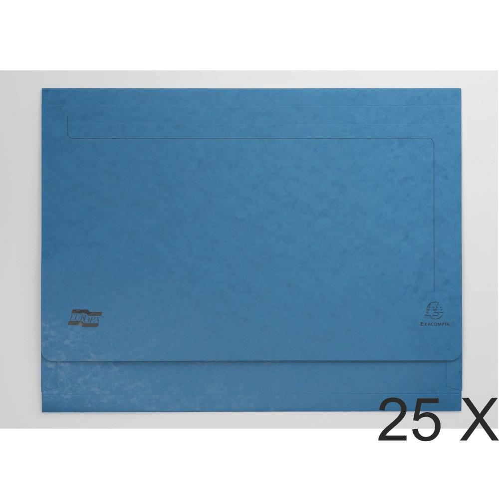 Exacompta - 25 Chemises poche A3 - 225 gr - bleu