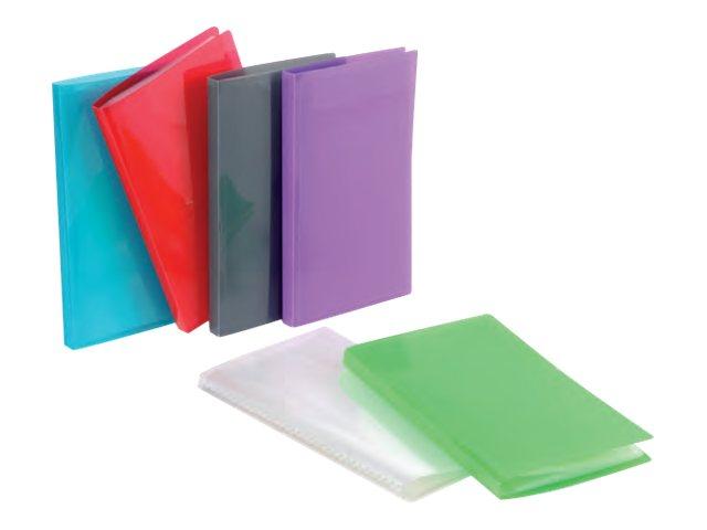 Viquel Propyglass - Porte vues - 200 vues - A4 - disponible dans différentes couleurs (polypro grainé)