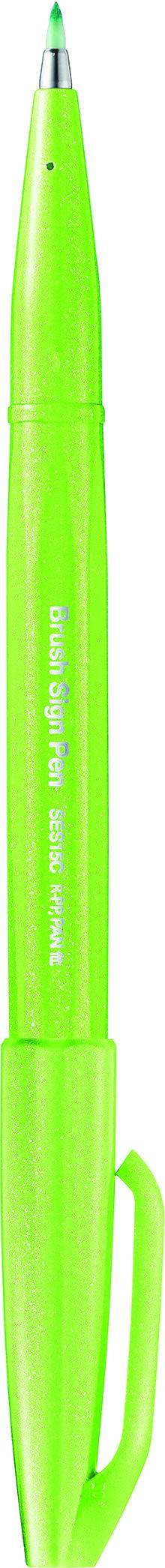 Pentel Sign pen - Feutre pinceau à pointe souple - vert pastel