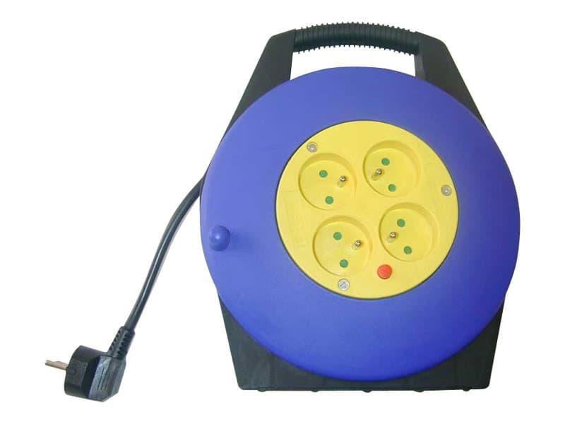 Safetool - Enrouleur de cable électrique +  4 prises 16A - 10m