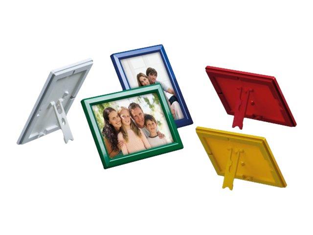 Promocome Ecoframe - Cadre porte-affiche clippant à poser ou à fixer au mur - A4 - bleu
