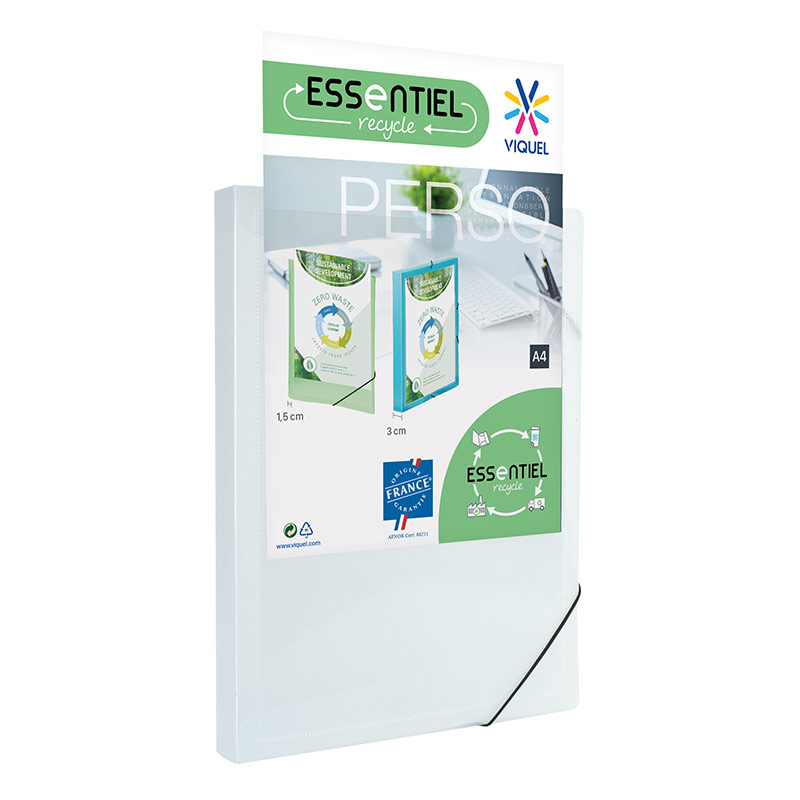 Viquel - Boîte de classement plastique personnalisable - dos 30 mm - blanc
