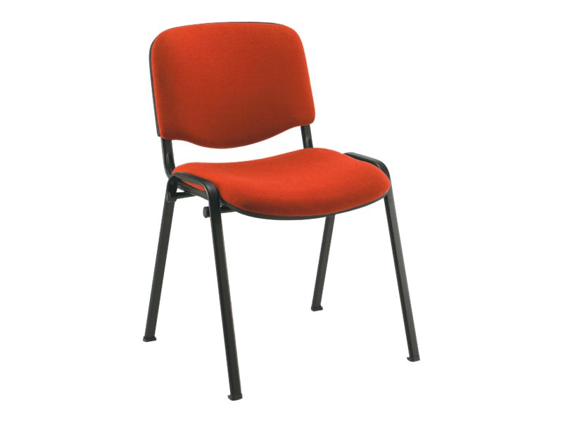 Chaise VISITEUR - accoudoir avec tablette en option - rouge
