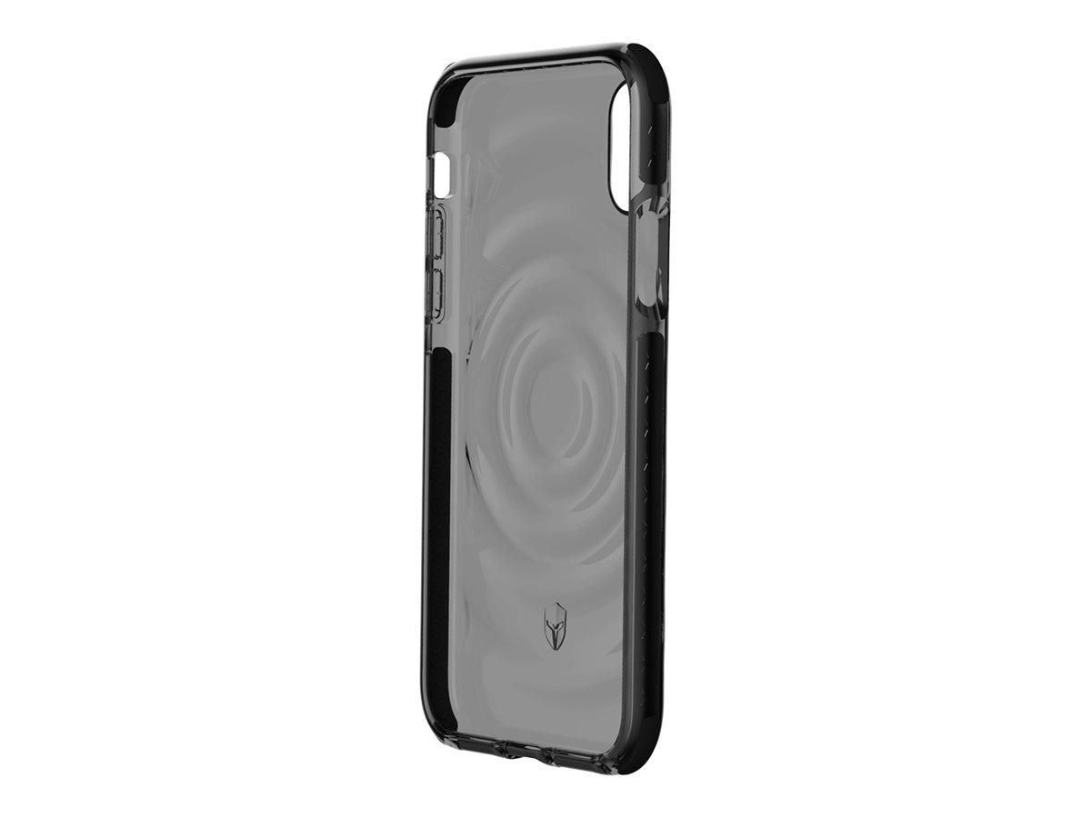 Force Case Urban - Coque de protection pour iPhone X/XS - transparent/gris foncé