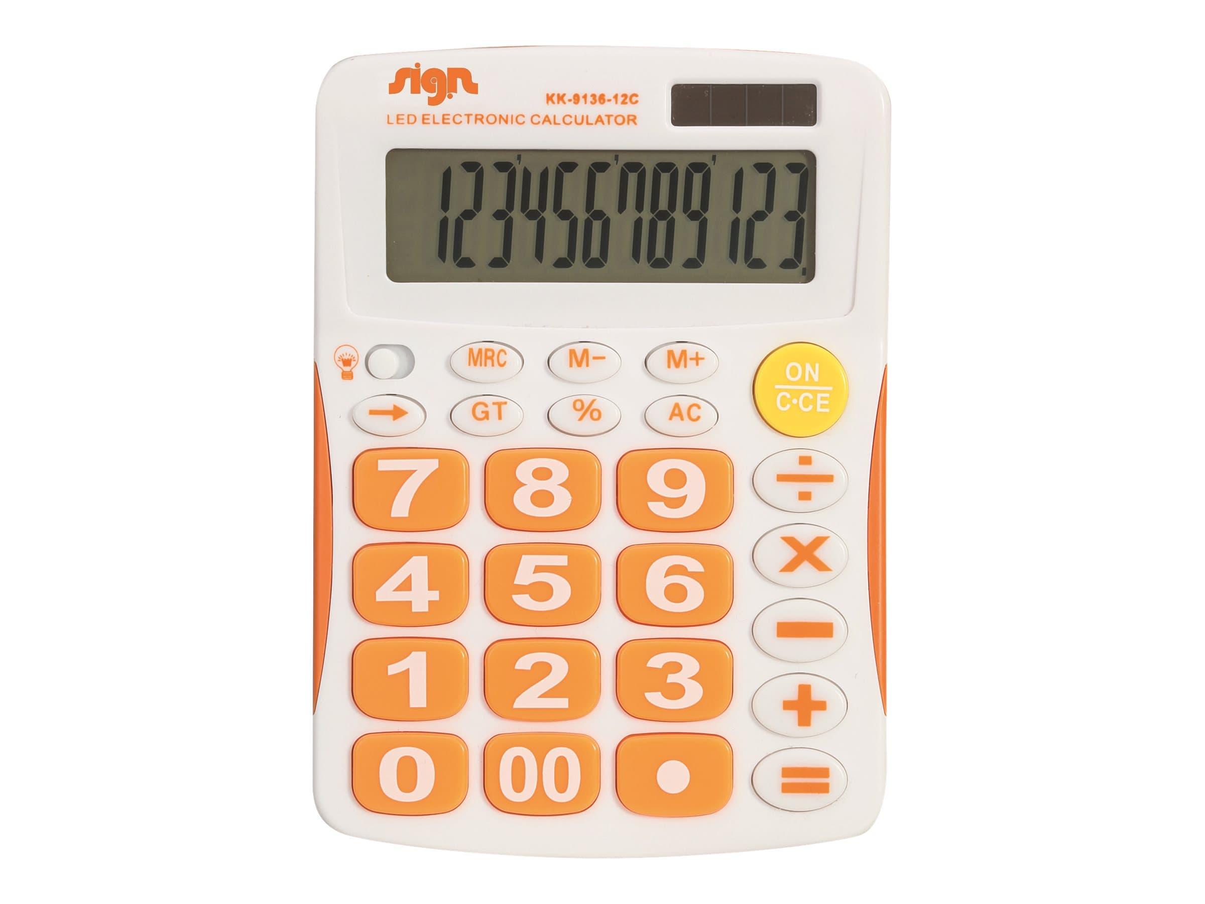 Carpentras Sign - Calculatrice de poche bleu et blanc - solaire et à pile