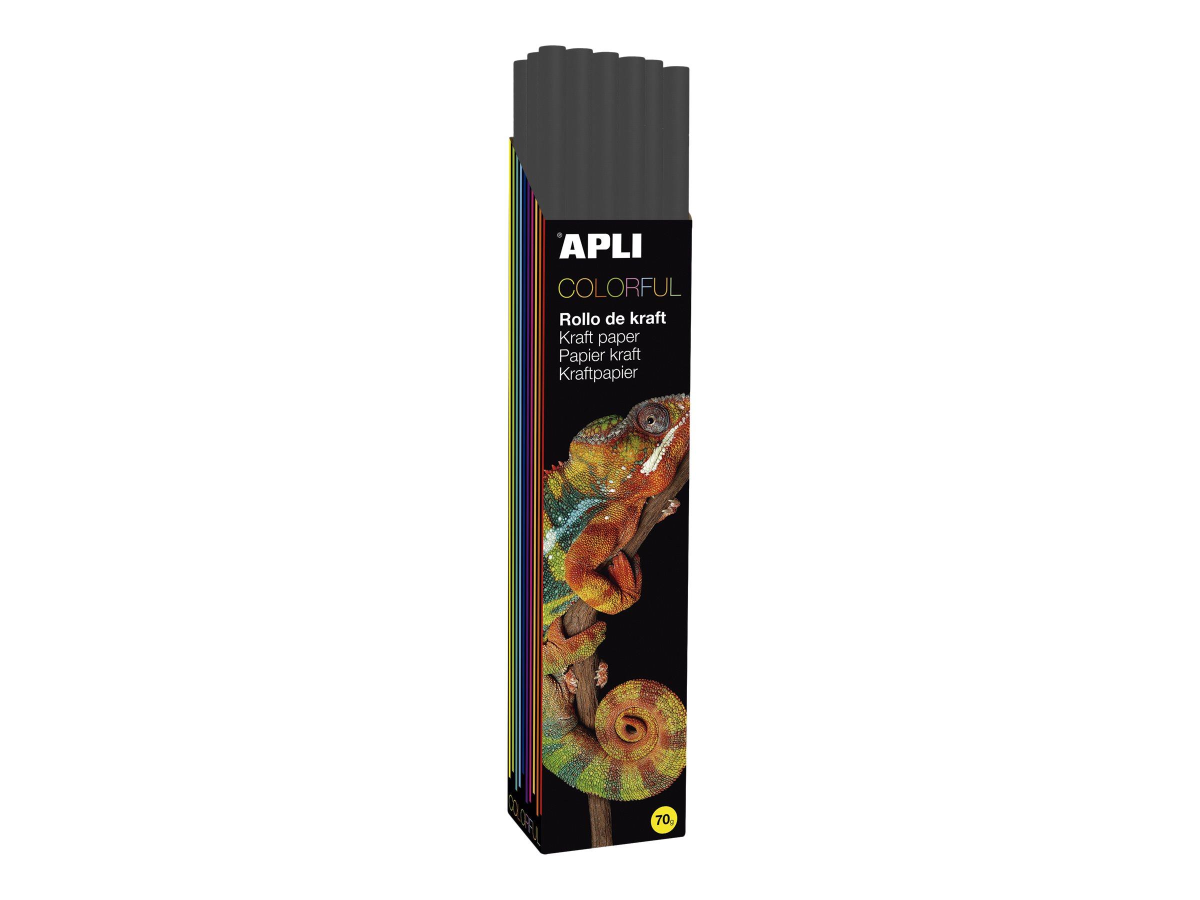 Apli Agipa - Papier cadeau kraft - 100 cm x 3 m - 70 g/m² - noir