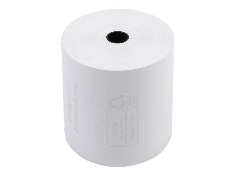 Exacompta - 10 Bobines caisses - papier thermique 80 x 80 x 12 mm - sans Bisphénol A - 76 m