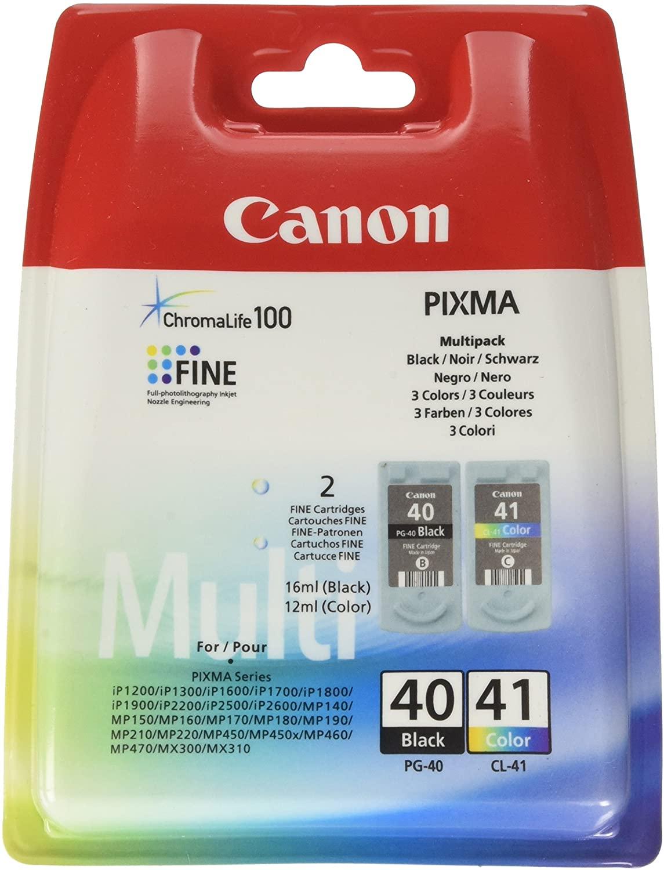 Canon PG-40/CL-41 - pack de 2 - noir, cyan, magenta, jaune - cartouche d'encre originale
