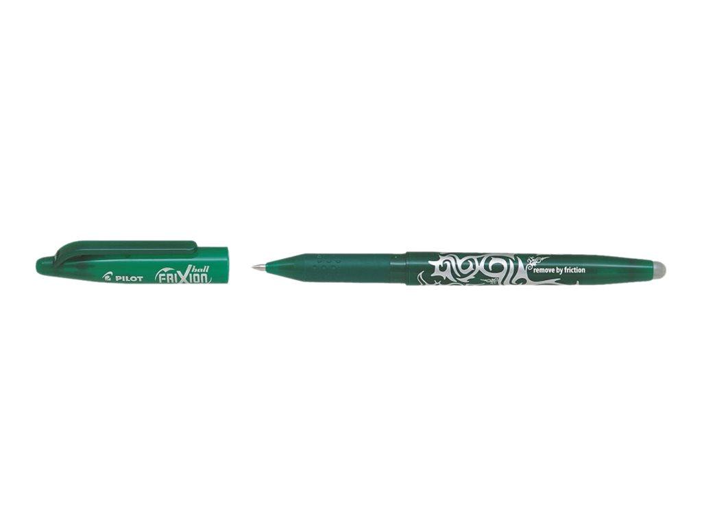 Pilot Frixion Ball - Pack de 12 - rollers effaçables - 0,7mm - vert