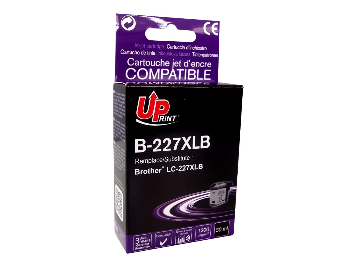 Brother LC227XL - compatible UPrint B.227XLB - noir - cartouche d'encre