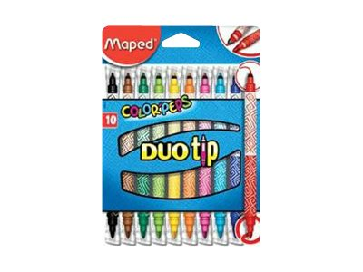 Maped Color'Peps Duo Tip - 10 feutres double pointe