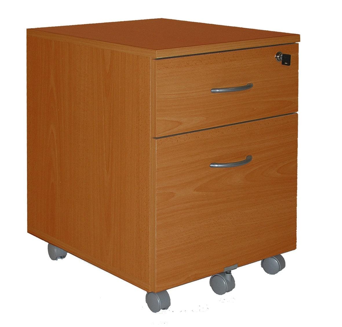 Caisson mobile WINCH 2 tiroirs dont 1 pour dossiers suspendus - Imitation Merisier