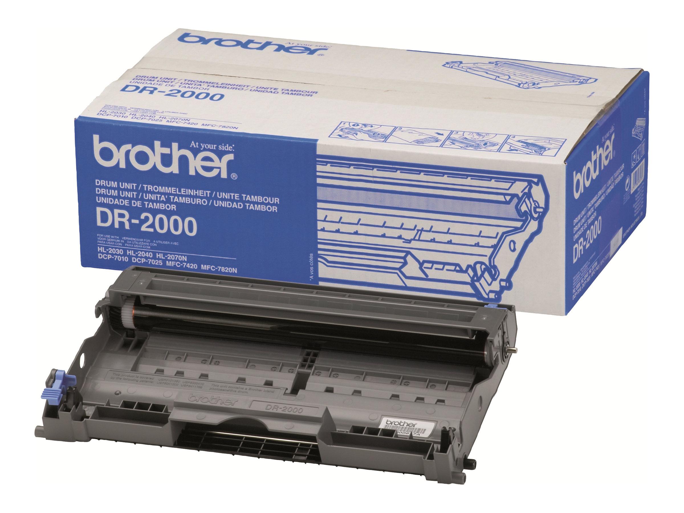 Brother DR2000 - noir - original - tambour pour imprimante