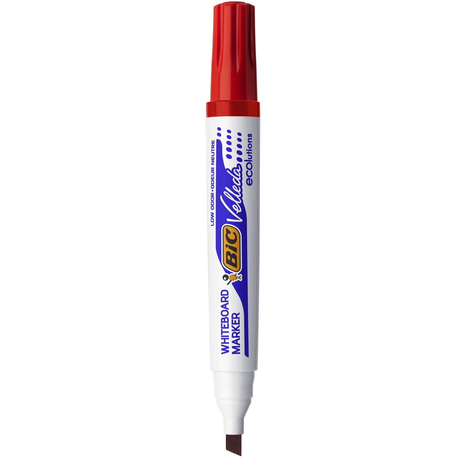BIC VELLEDA 1751 - Marqueur effaçable - pointe biseau - rouge