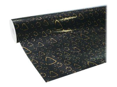 Clairefontaine Premium - Papier cadeau - 70 cm x 50 m - 80 g/m² - or fond noir
