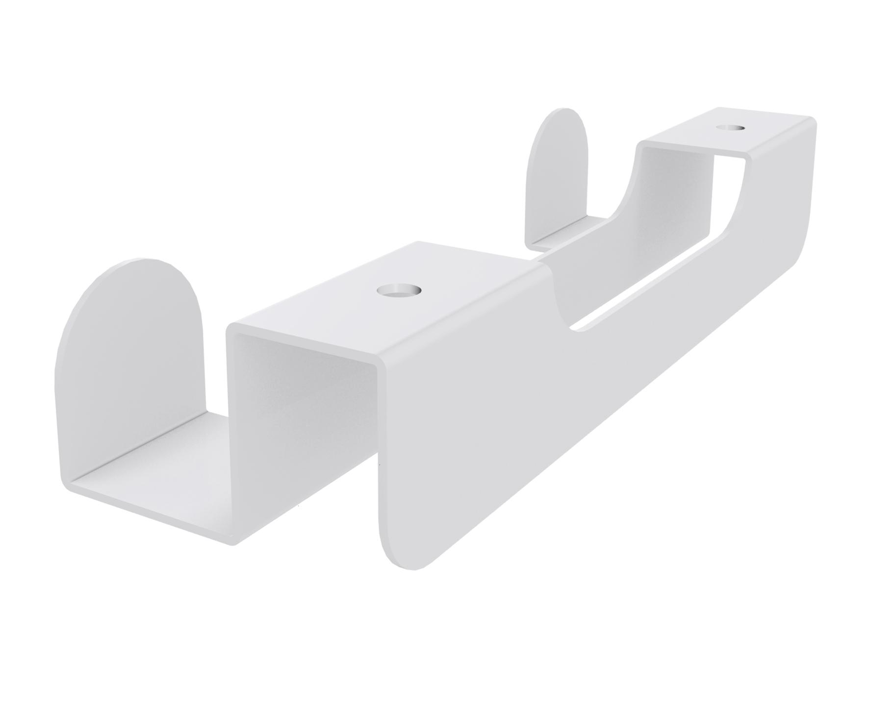 Double patère IN'TEAM pour banquette et box acoustique - blanc
