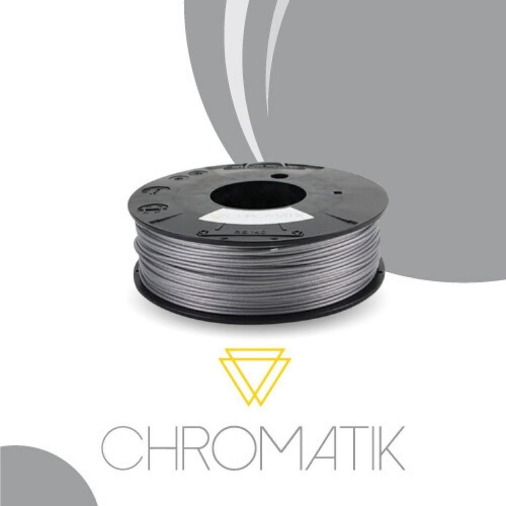 Dagoma Chromatik - filament 3D PLA - argent - Ø 1,75 mm - 750g