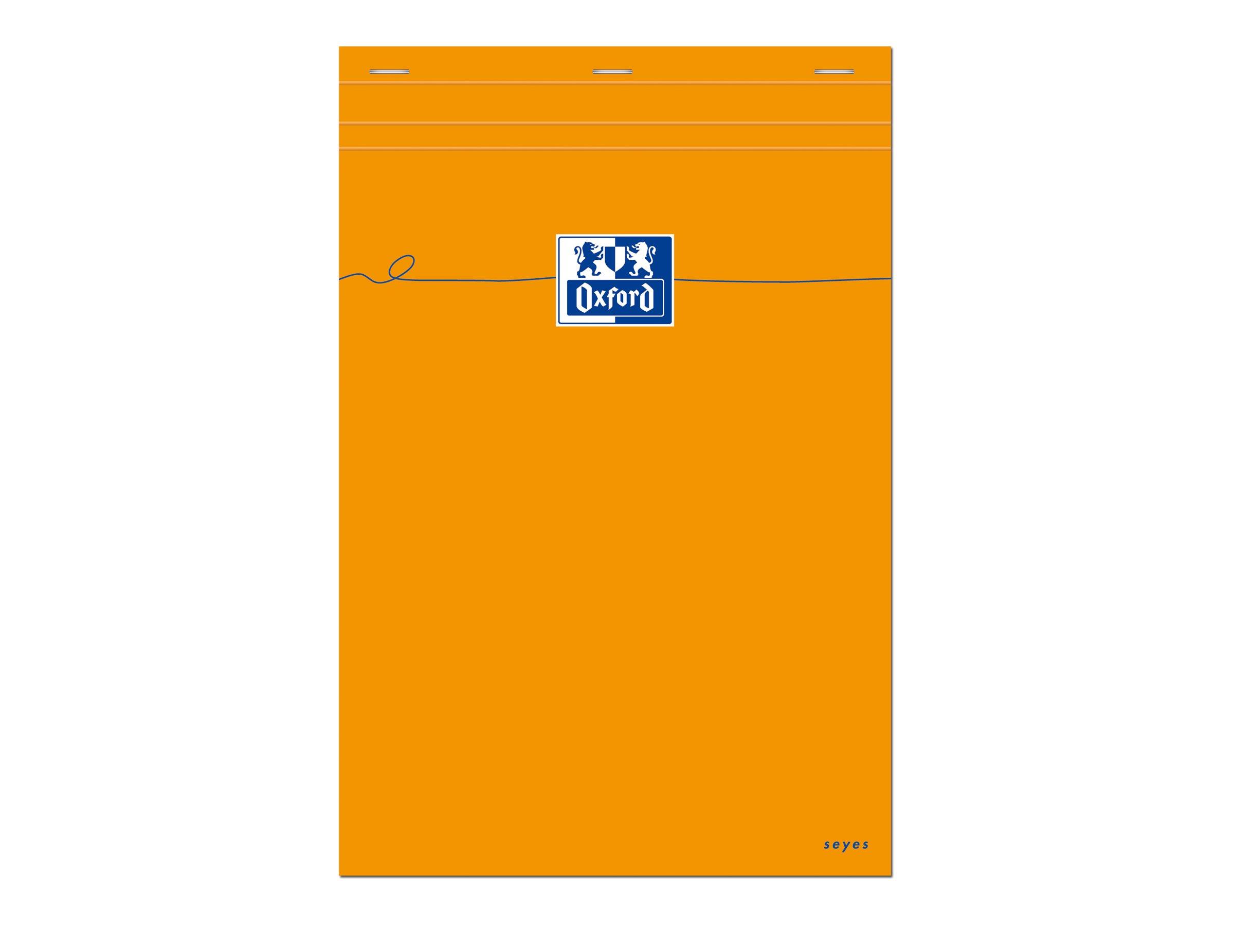 Oxford - Bloc notes - A4 - 160 pages - grands carreaux - 80G - orange