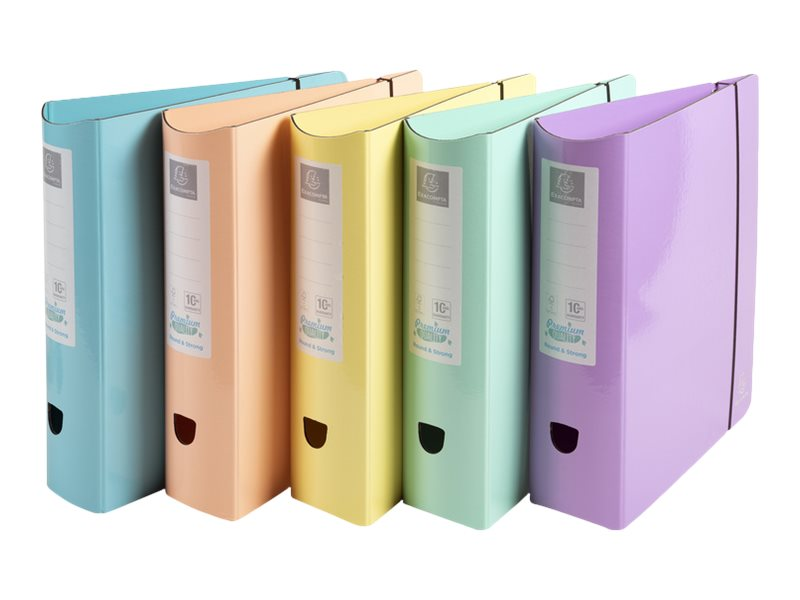 Exacompta Aquarel - Classeur à levier - Dos 80 mm - A4 - disponible dans différentes couleurs