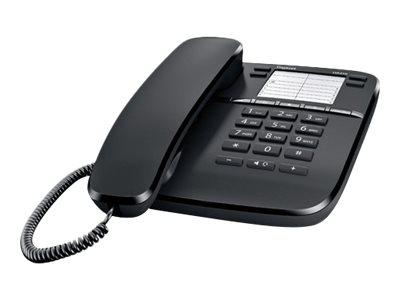 Gigaset DA410 - téléphone filaire - noir