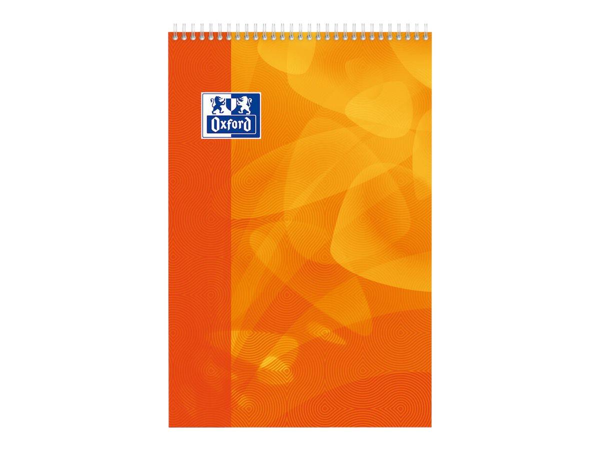 Oxford - Bloc notes - A4 + - 160 pages - grands carreaux - 90G