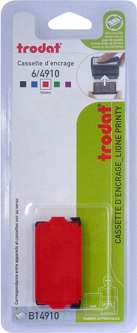 Trodat - Encrier 6/4910 recharge pour tampon Printy 4810/4910 - rouge