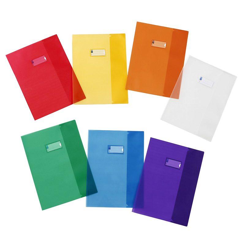 Viquel Just Cover - Protège cahier sans rabat - 17 x 22 cm - disponible dans différentes couleurs assorties translucides