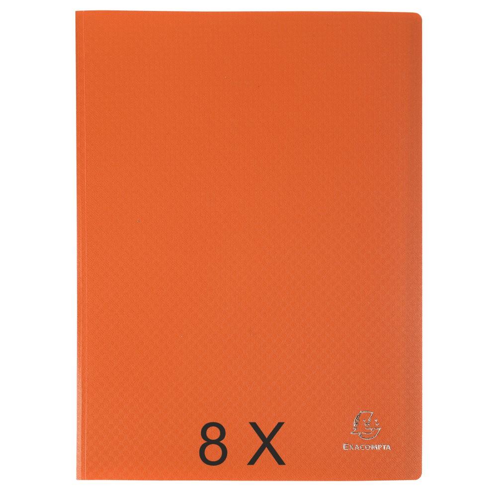 Exacompta Opak - 8 Porte vues - 120 vues - A4 - orange