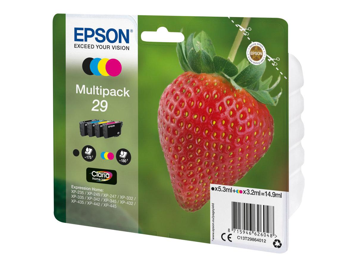 Epson 29 Fraise - Pack de 4 - noir, cyan, magenta, jaune - cartouche d'encre originale