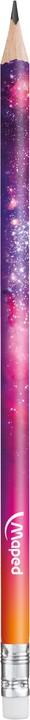 Maped Cosmic Teens - Crayon à papier HB - embout gomme - disponible dans différentes couleurs