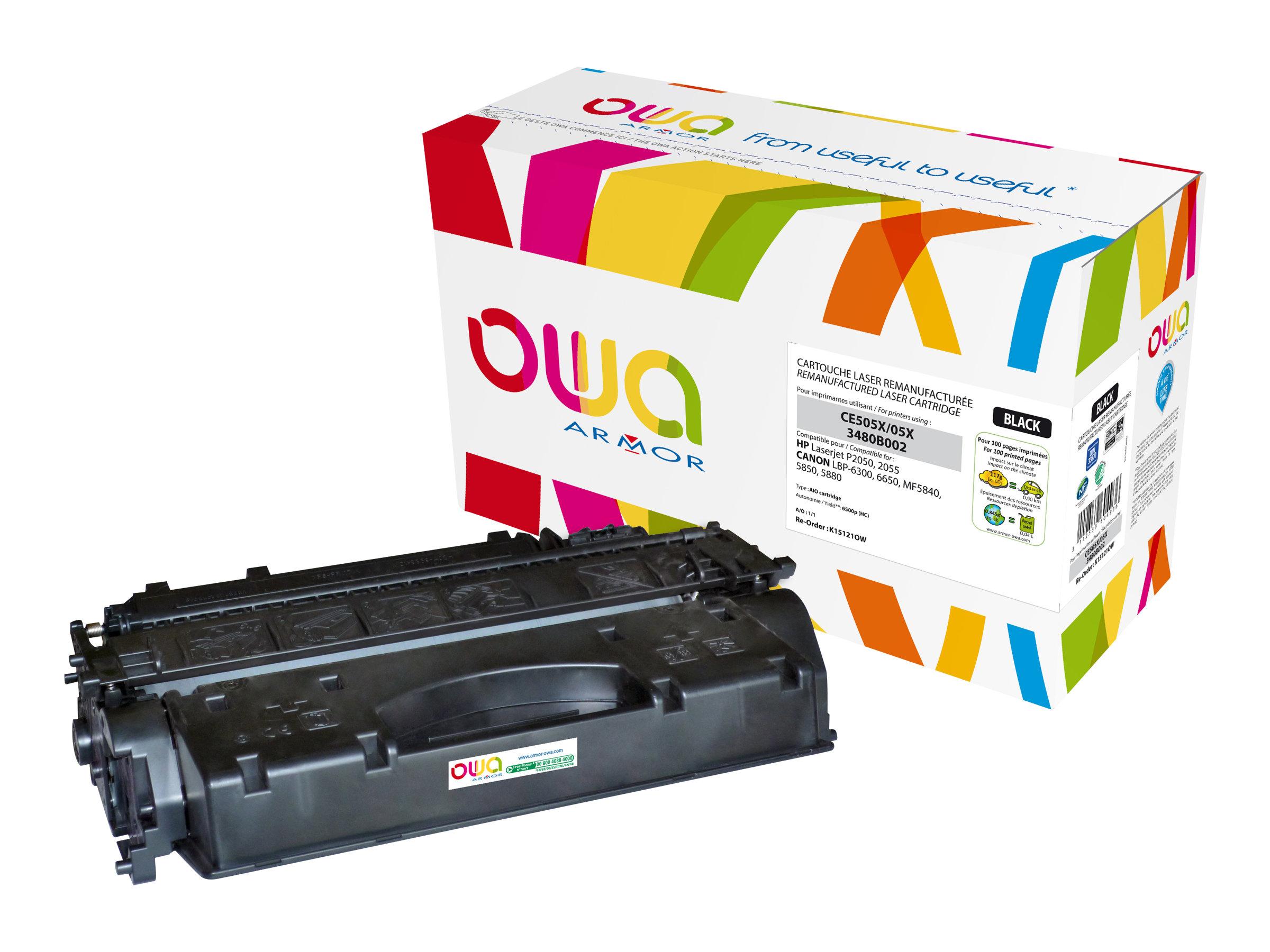Owa K15121OW cartouche équivalente HP 05X / Canon 719H - noir