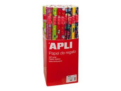 Apli Agipa - Papier cadeau - 70 cm x 2 m - différents motifs enfants