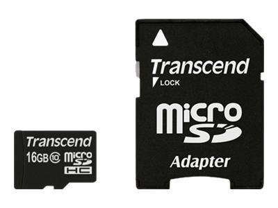 Transcend - Carte mémoire 16 Go - Class 10 - micro SDHC UHS-I