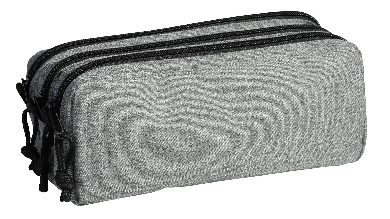 Trousse rectangulare School 3 compartiments - gris - Carpentras