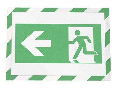 Durable Duraframe Magnetic Security - 2 Cadres d'affichage magnétique bicolore - A4 - vert/blanc