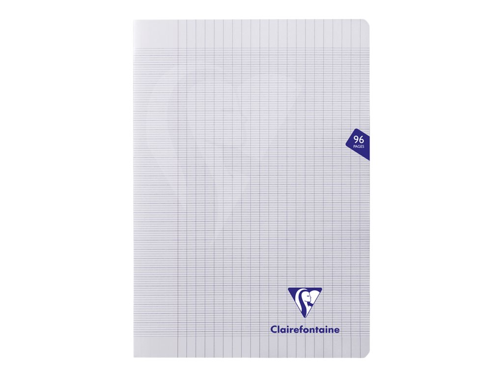 Clairefontaine Mimesys - Cahier polypro A4 (21x29,7 cm) - 96 pages - grands carreaux (Seyes) - transparent