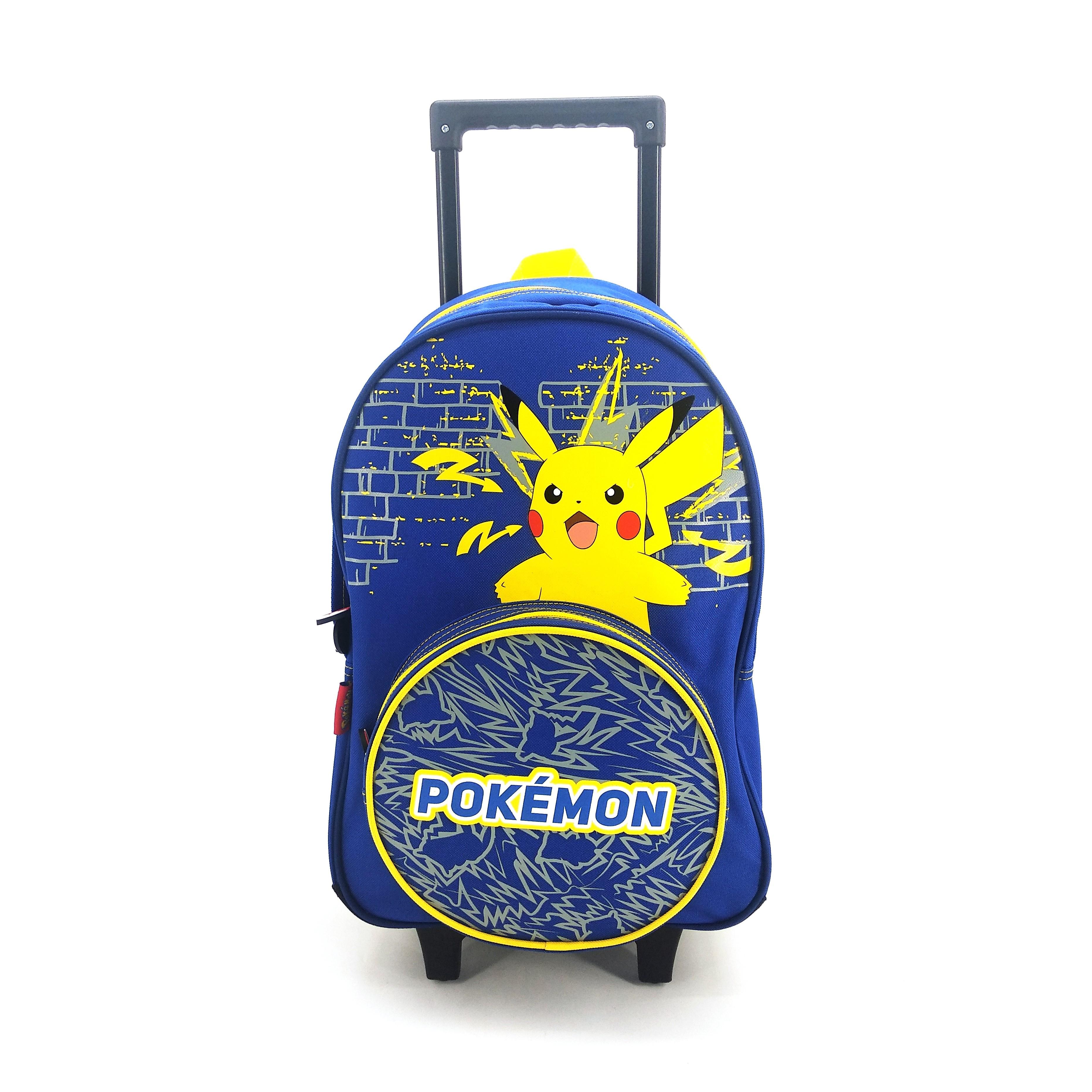 Sac à dos à roulettes Pokemon - 2 compartiments - bleu marine - Bagtrotter
