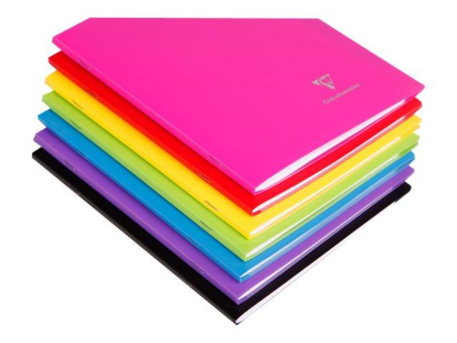 Clairefontaine Koverbook - Cahier polypro 24 x 32 cm - 96 pages - petits carreaux (5x5 mm) - disponible dans différentes couleurs
