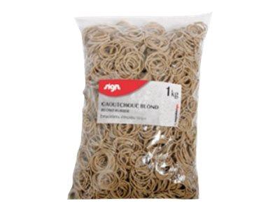 Sign - Bracelets caoutchouc - élastiques larges - 0,5 x 7 cm - 1 kg