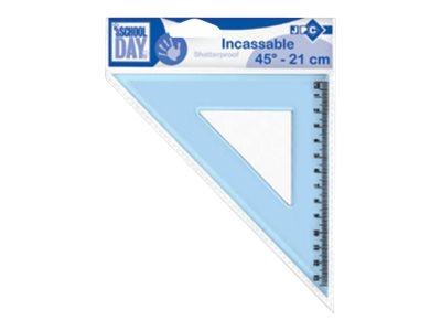 JPC  équerre 21 cm 45° plastique incassable