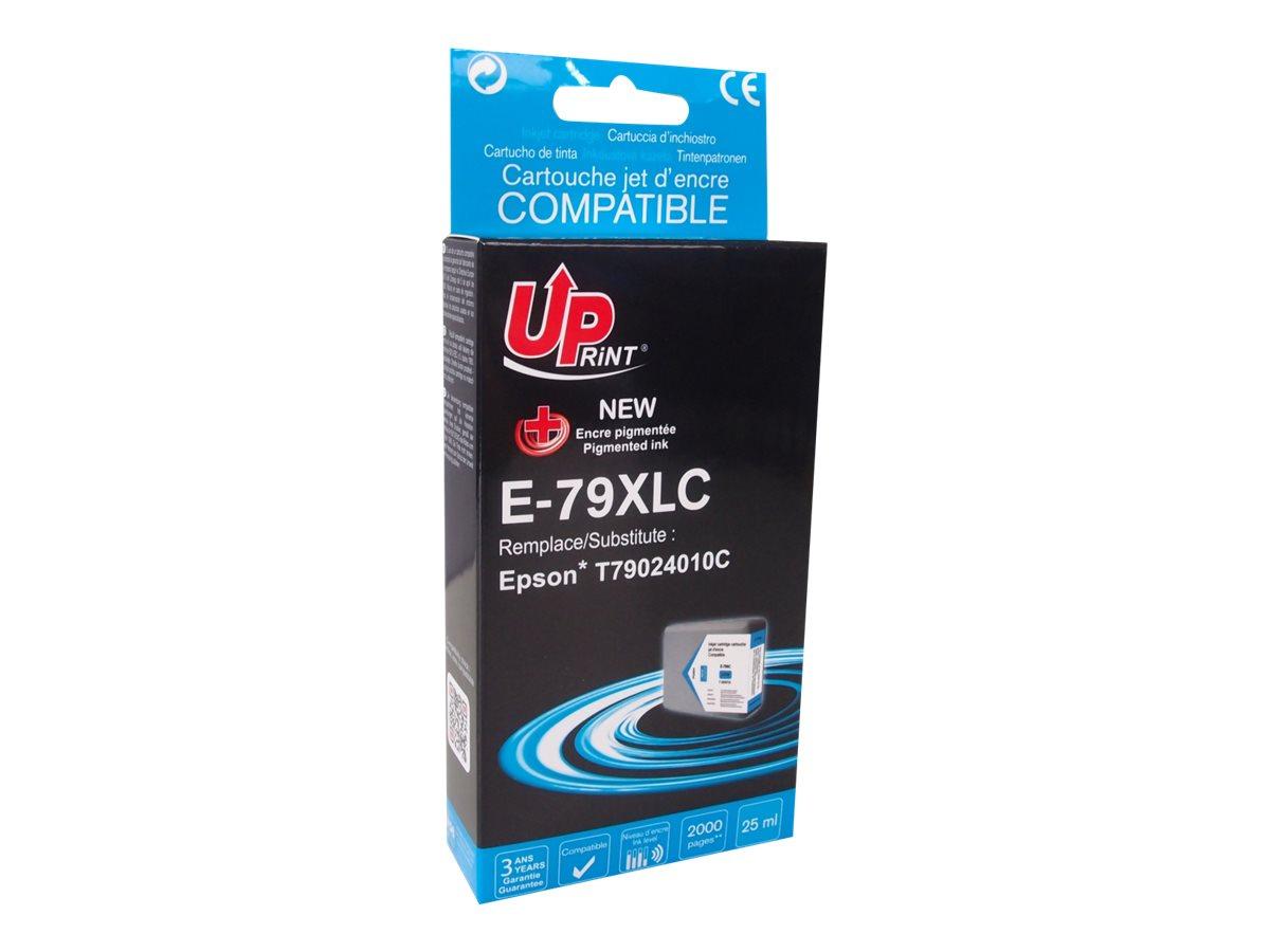 Epson 79XL Tour de Pise - compatible UPrint E.79XLC - cyan - cartouche d'encre